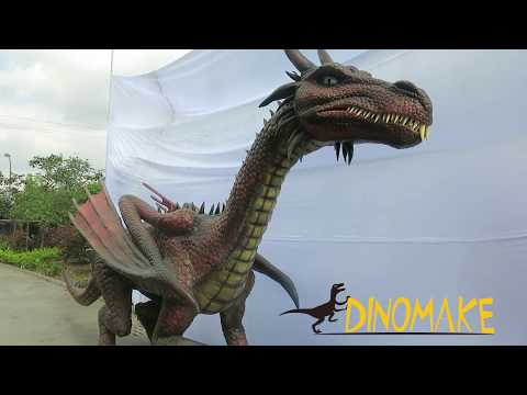 Realistic Animatronic Western Dragon For Theme Park