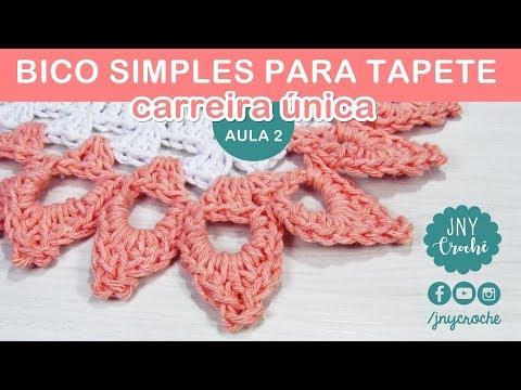 Bico de crochê simples e fácil para tapete | AULA 2 - JNY Crochê