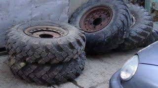 Новые колёса на ГАЗ-63.