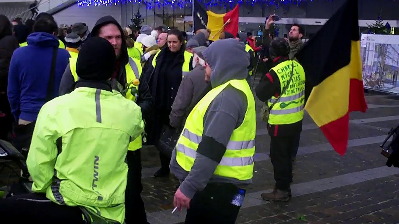 Gilets Jaunes de Liège - 12 janvier 2019 avant la marche silencieuse