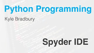 Introduction to the Spyder IDE for Python Thumb