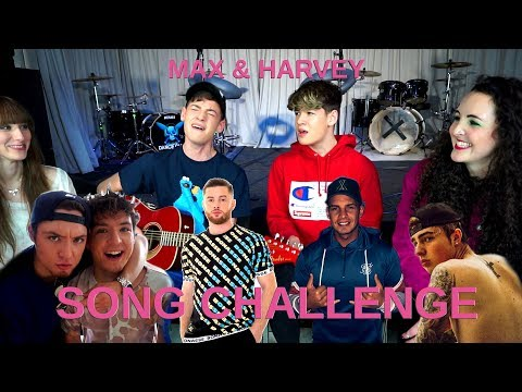 MAX & HARVEY (UK) Try To Sing GERMAN SONGS! (DieLochis, Mike Singer, Pietro Lombardi, Bausa)