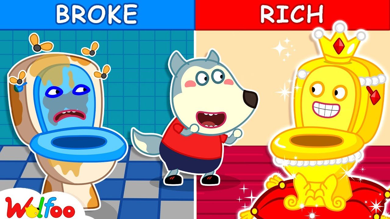 Download Rich Potty vs Broke Potty - Kids Stories About Potty Training with Wolfoo | Wolfoo Channel