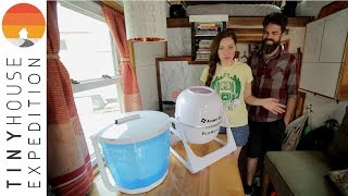 Off-Grid Tiny House Appliance Review: Avalon Bay Portable Washing Machine + Portable Spin Dryer
