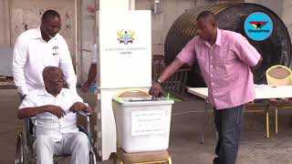 Mould Iddrissu, Sammy Gyamfi, Issifu Ali vote at NDC Headquarters