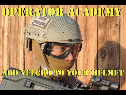 Operator Academy: How to add velcro to your helmet with Jet DesertFox