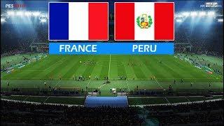 PES 2018 | FRANCE vs PERU | Full Match & Amazing Goals | Gameplay PC