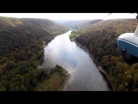 Flying over the Allegheny river