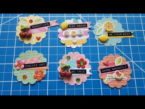 DIY Scallop Embellishments | Paper Crafting