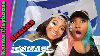AMERICANS TRY ISRAELI SNACKS KARMA PLAYHOUSE