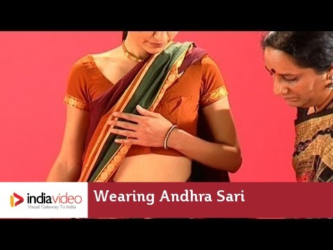 How to wear an Andhra Sari?