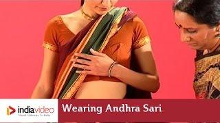 Wearing Andhra Sari - How to drape a Saree | India Video
