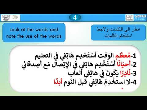 Grade 7 (most - Always - Sometimes - Never )  Arabic For Non Arabs