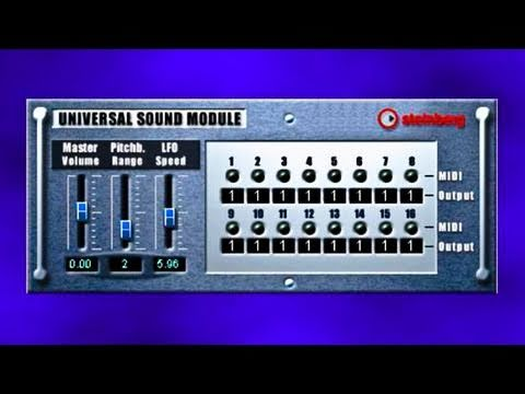 Universal sounds module - Demo'ed A/B w/ wo/ FX