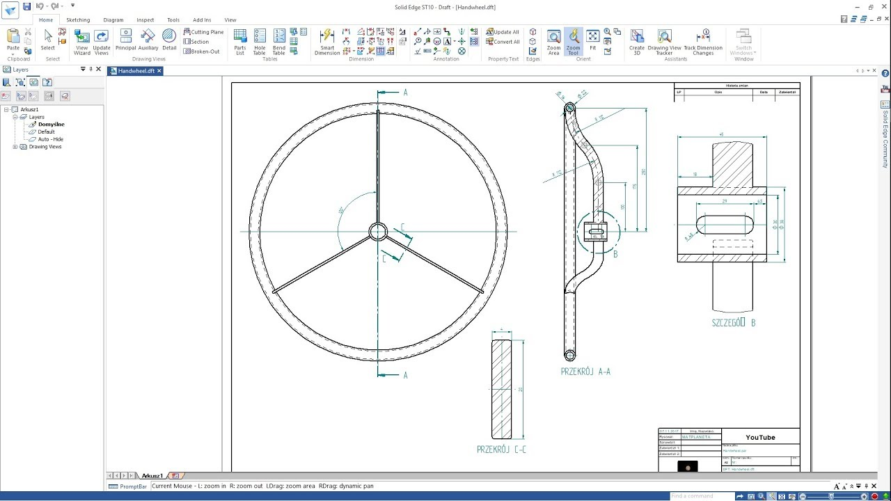 maxresdefault solid edge st10 handwheel concrete mixer drawing youtube