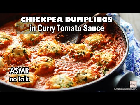 chickpea-dumplings-in-curry-tomato-sauce---asmr-cooking,-no-talking,-no-music