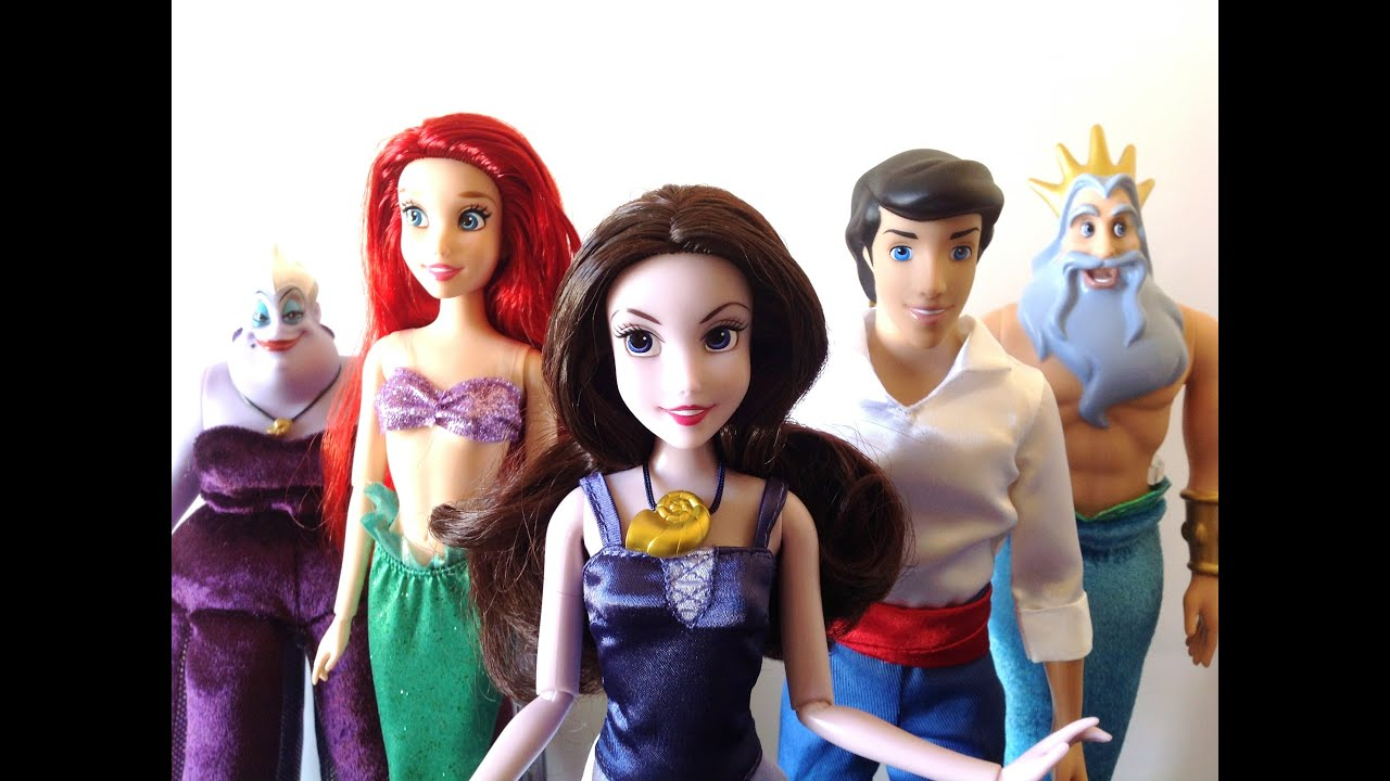 Disney Store The Little Mermaid Deluxe Doll Gift Set 2013