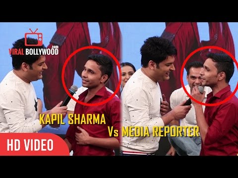 Funniest Troll By Kapil Sharma To A Media Reporter | On The Set's Of The Kapil Sharma Show