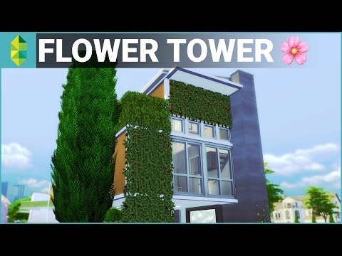 The Sims 4 House Building - Flower Tower