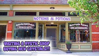 VISITING A MYSTIC OCCULT SHOP │BUYING NEW CRYSTALS