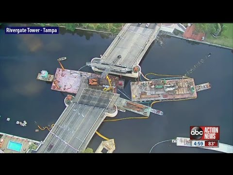 Rig removed from Kennedy bridge, placed on barge