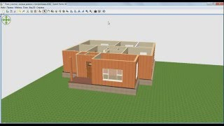 Sweet Home 3d. Проект дома с участком! Часть 3:  Комнаты! Двери! Окна!