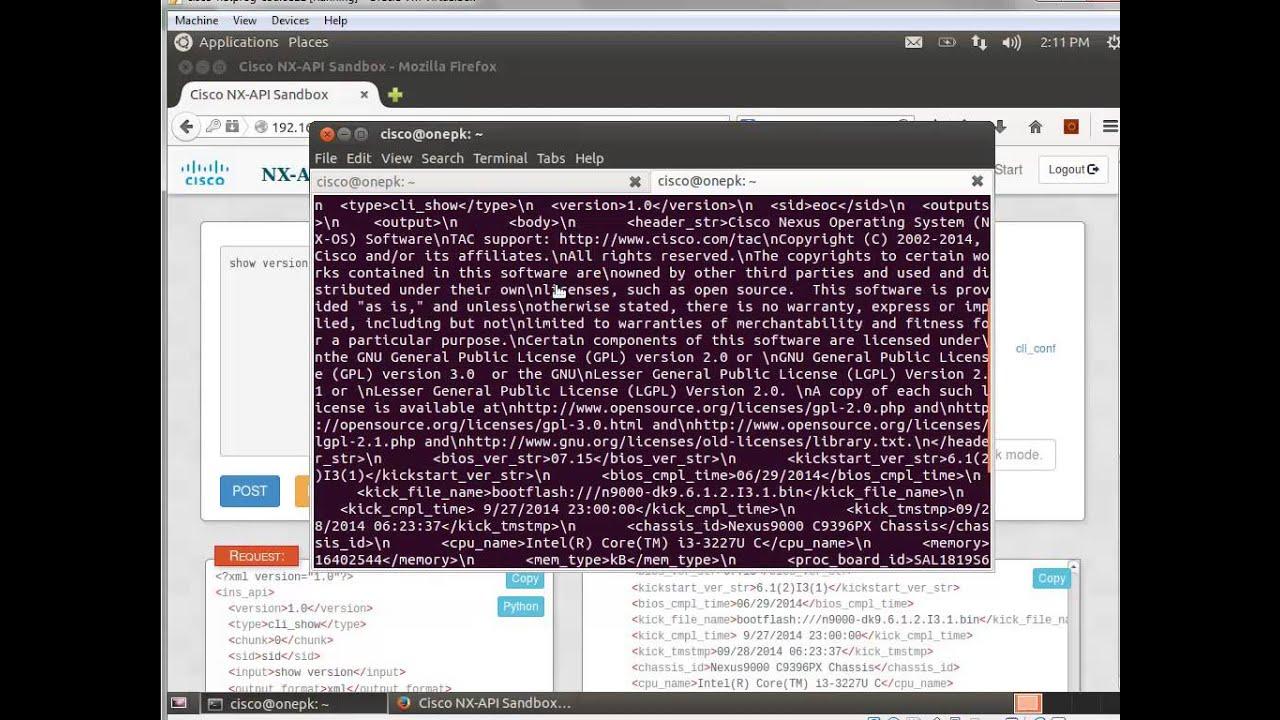 Introduction to Cisco NX-API - Part 1