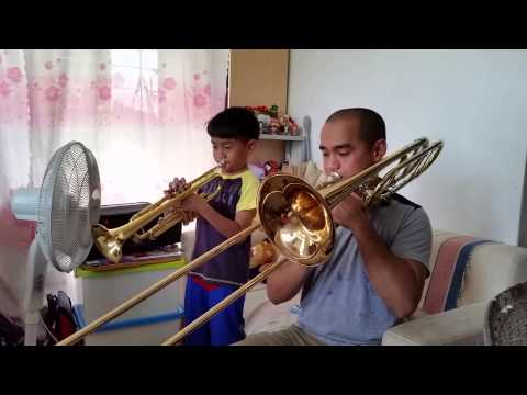Minuet in G duet for Trumpet and Trombone