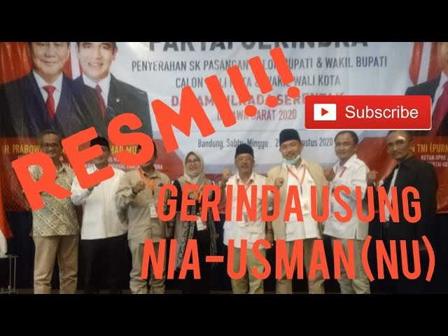 Ini Keputusan Akhir Gerindra di Pilkada Kabupaten Bandung 2020