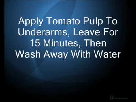 How To Stop Underarm Sweat - Natural Home Remedies