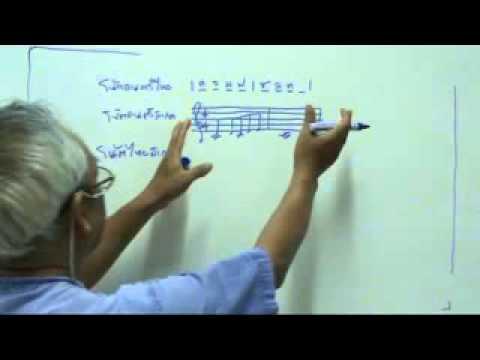 โน้ตไทยสากล : ทางเลือกใหม่ของการเขียน/อ่านโน้ตเพลง