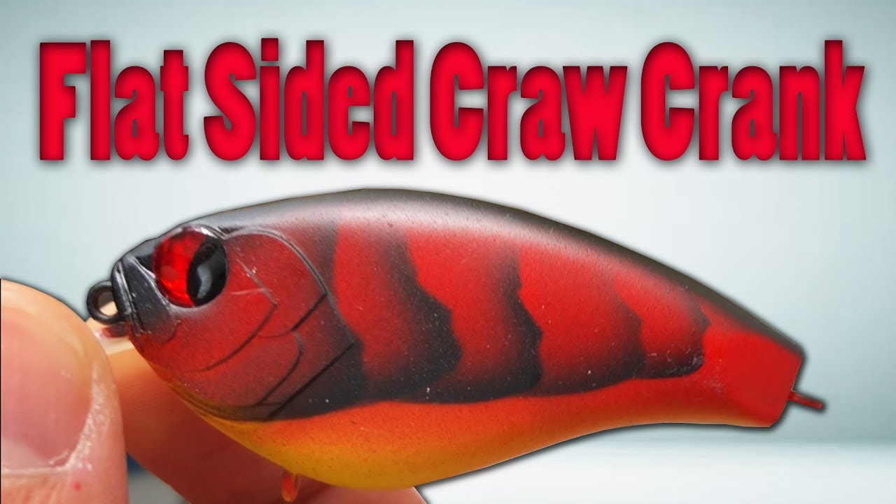 PAINTING FISHING LURES - Custom CRAWFISH Crankbait (Airbrush Painting!)