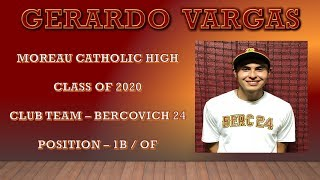 GERARDO VARGAS - BASEBALL RECRUIT - BERCOVICH 24