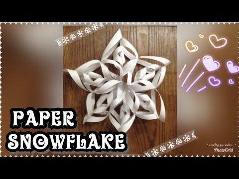 3D Paper Snowflakes DIY...paper wall decor....