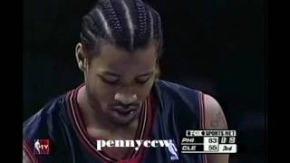 Allen Iverson 54pts FULL Highlights vs Cavs (2001)