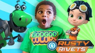 GOO GOO GAGA PLAYS RUSTY RIVETS FAMILY FUN BOARD GAME! GOO GOO COLORS