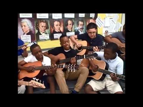Benoist Farms Elementary School Rock Band- We Are The World unplugged