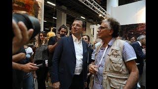 "Ekrem İmamoğlu "" 14 Contemporary Istanbul"" u ziyaret etti"