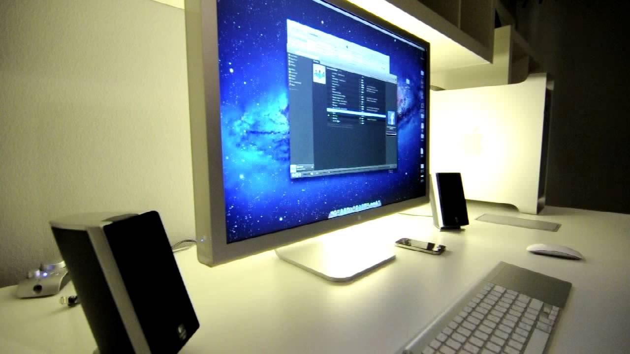 Apple 30 Cinema Display Setup W Mac Pro IKEA Furniture YouTube
