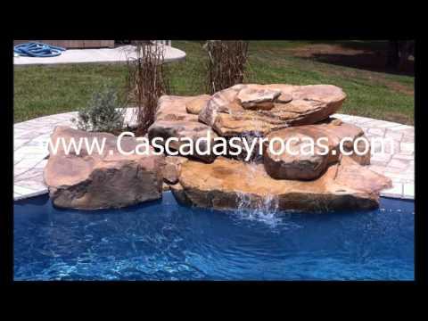 Cascadas artificiales para piscina youtube for Cascadas artificiales modernas