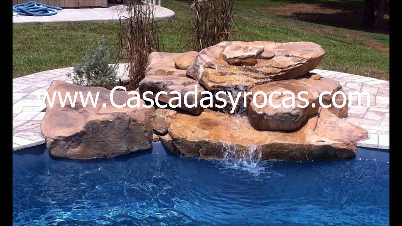 Cascadas artificiales para piscina youtube for Cascadas artificiales para piscinas