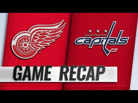 Ovechkin, Backstrom lead Caps past Red Wings, 6-2
