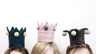 DIY: Make a crown and dress up like royalty by Søstrene Grene