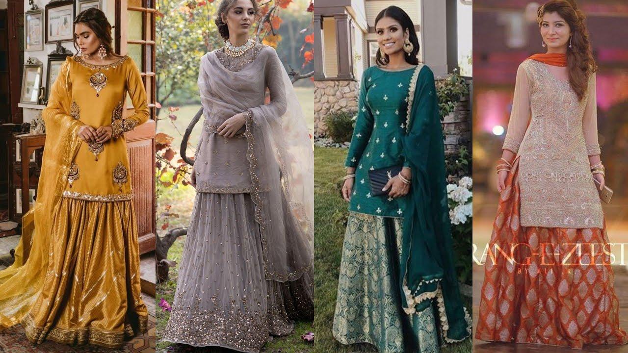 Latest lehenga with long blouse designs    Lehenga with kurti designs for weddings