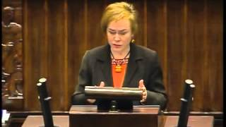 Lidia Gądek - wystąpienie z 8 stycznia 2014 r.