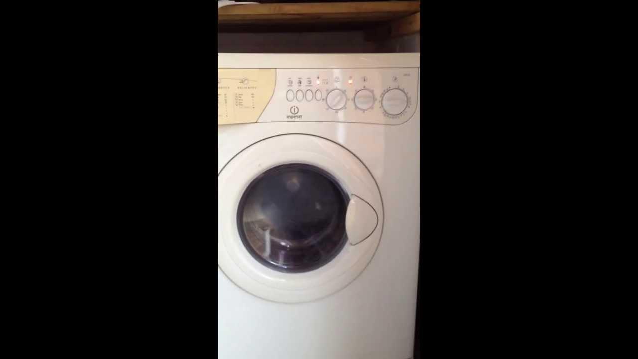 Indesit Wd12 Washer Dryer Youtube