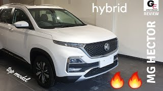 MG Hector Sharp Hybrid 🔥🔥 | top model | voice command demo |  detailed walkaround review !!!!