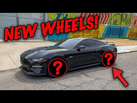 INSTALLED NEW WHEELS ON MY 2018 MUSTANG GT! *NEW MOD*