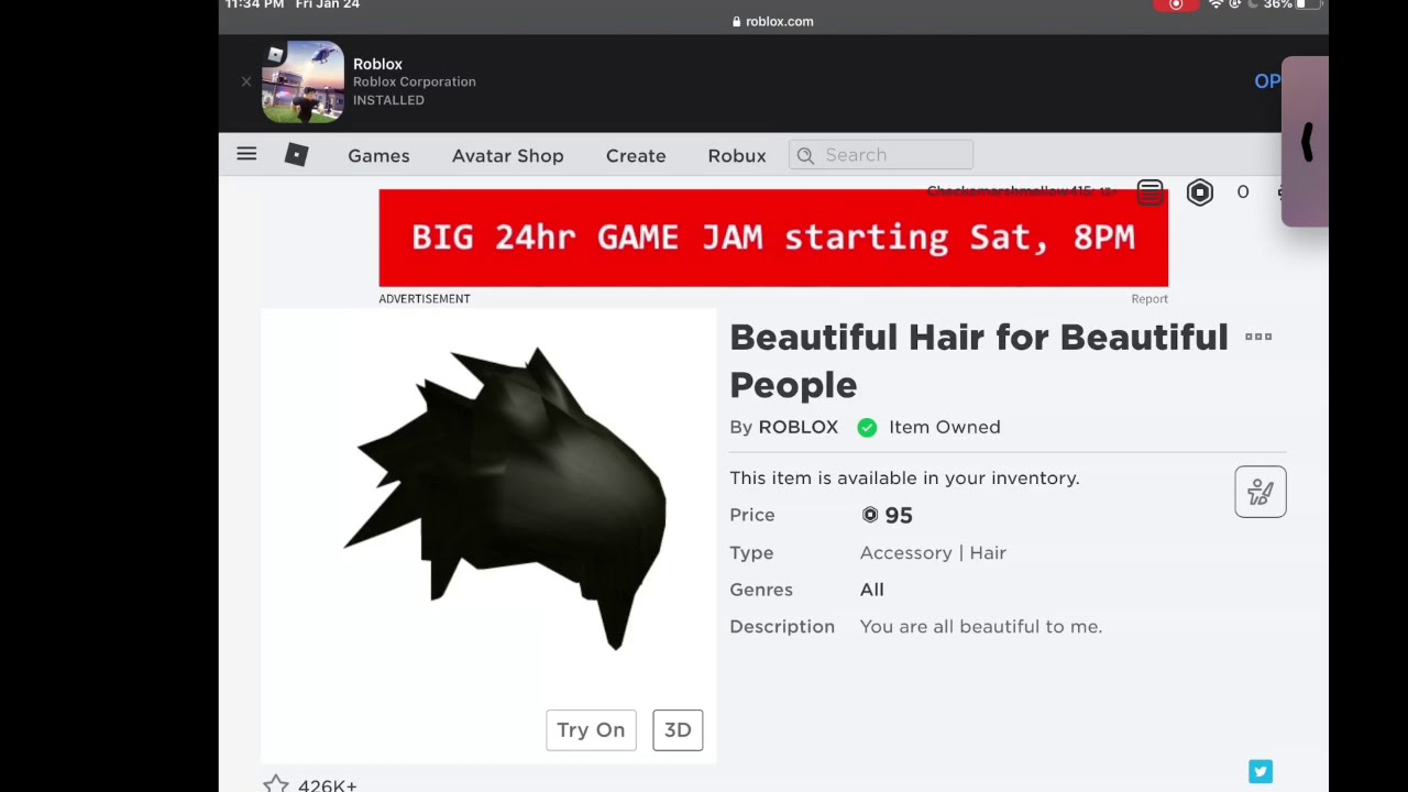 How To Wear 2 Roblox Hairs At One Time Ipad 2020 Youtube