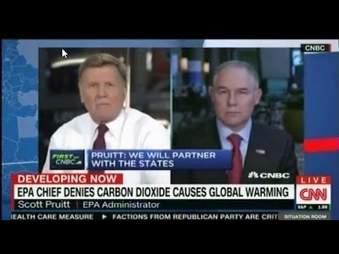 Bernie Saunders incredulous that the head of EPA doesn't believe that Carbon Dioxide causes Global W